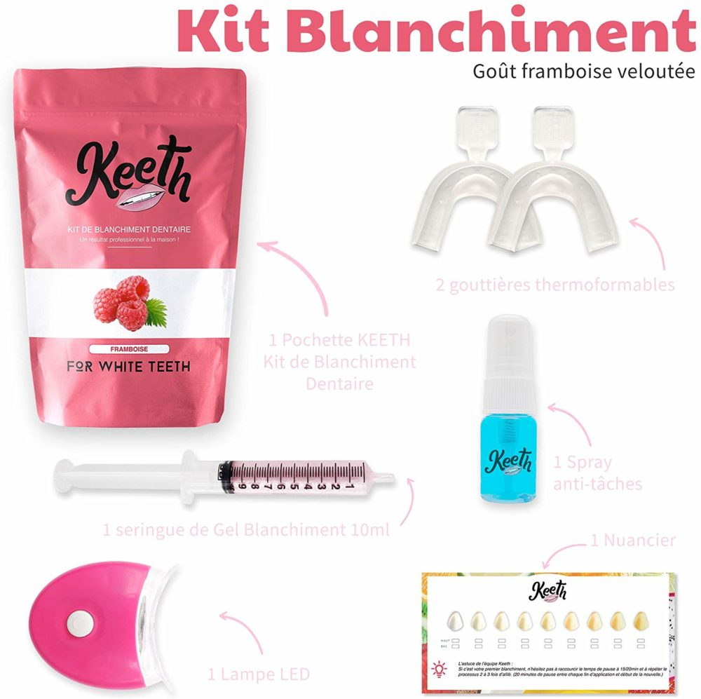 Kit de blanchiment dentaire à la framboise
