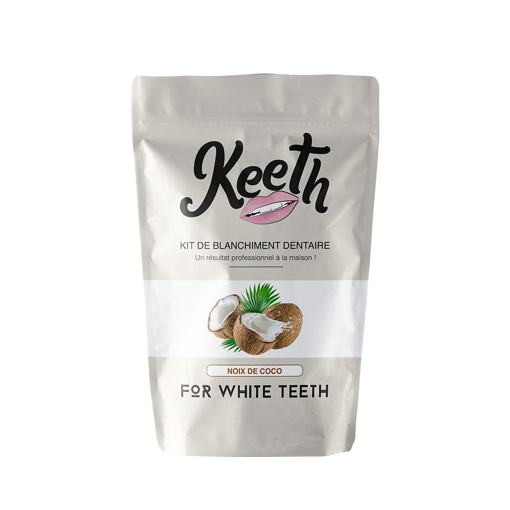 Kit de blanchiment dentaire Keeth goût noix de coco dents blanches