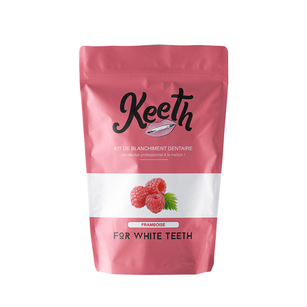 Kit de blanchiment dentaire Keeth goût framboise profesionnel à la maison