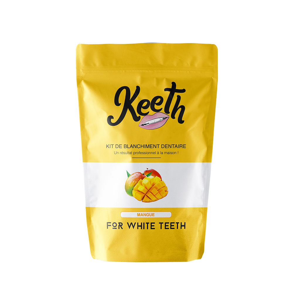 Kit de blanchiment dentaire goût mangue Keeth sourire blanc