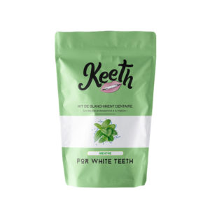 Mint-flavoured whitening kit