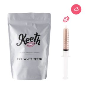 Whitening gel refills kit: strawberry flavour