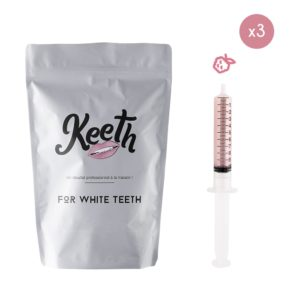 Whitening gel refills kit : raspberry flavour