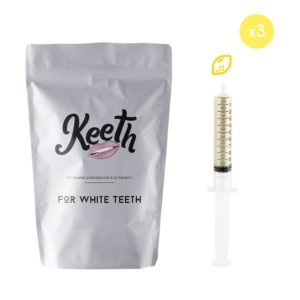 Whitening gel refills kit : lemon flavour