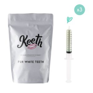 Whitening gel refills kit : mint flavour